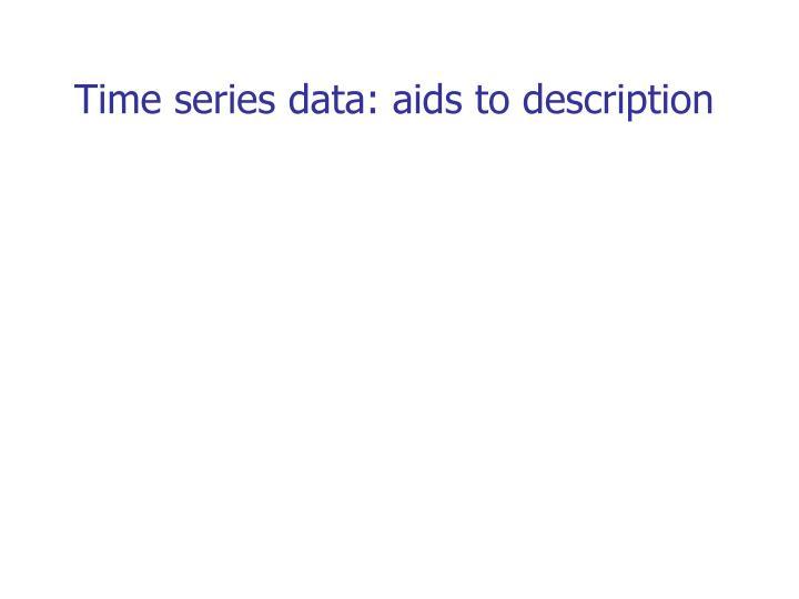 Time series data: aids to description