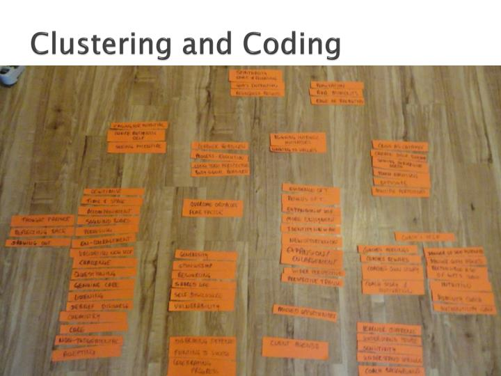 Clustering and Coding