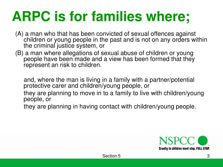 ARPC is for families where;