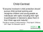 child centred