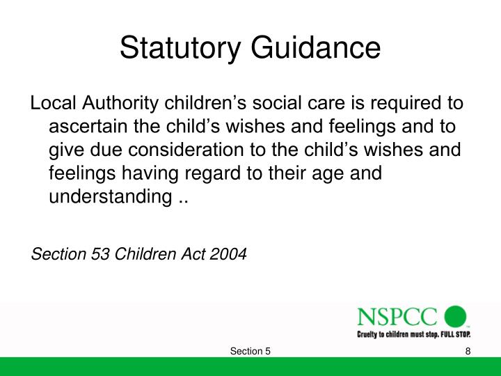 Statutory Guidance