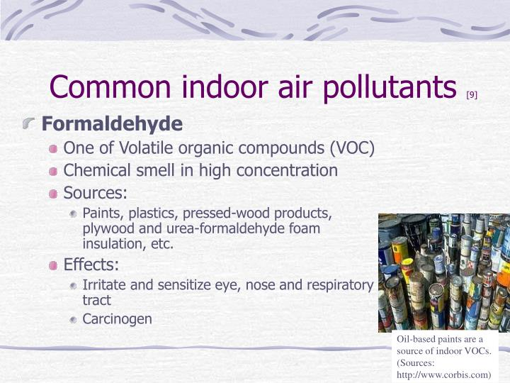 Oil-based paints are a source of indoor VOCs. (Sources: http://www.corbis.com)