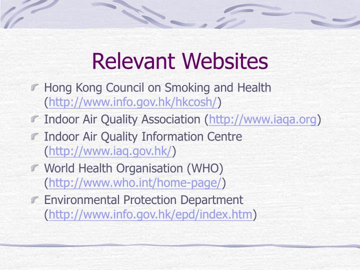 Relevant Websites