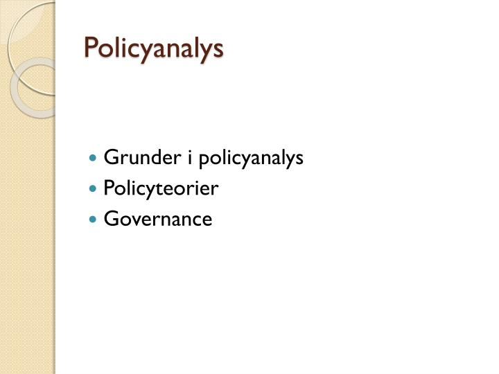 Policyanalys