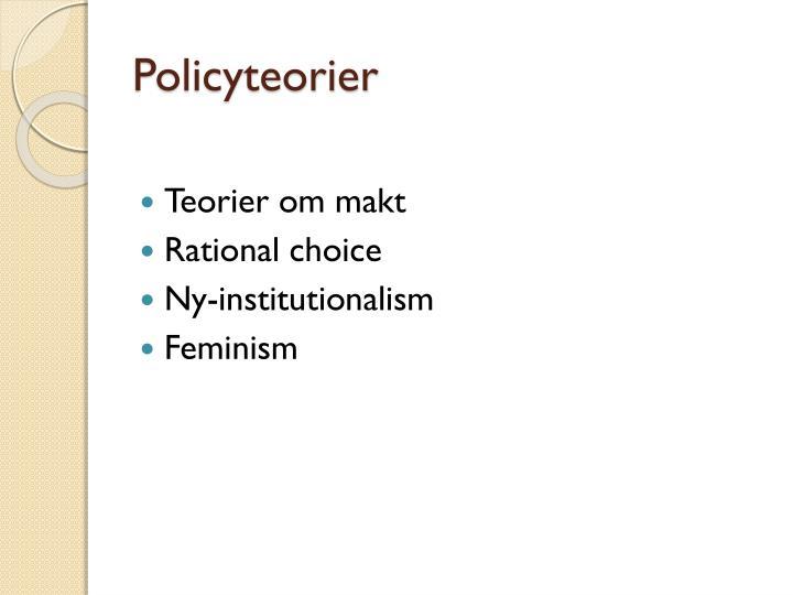 Policyteorier