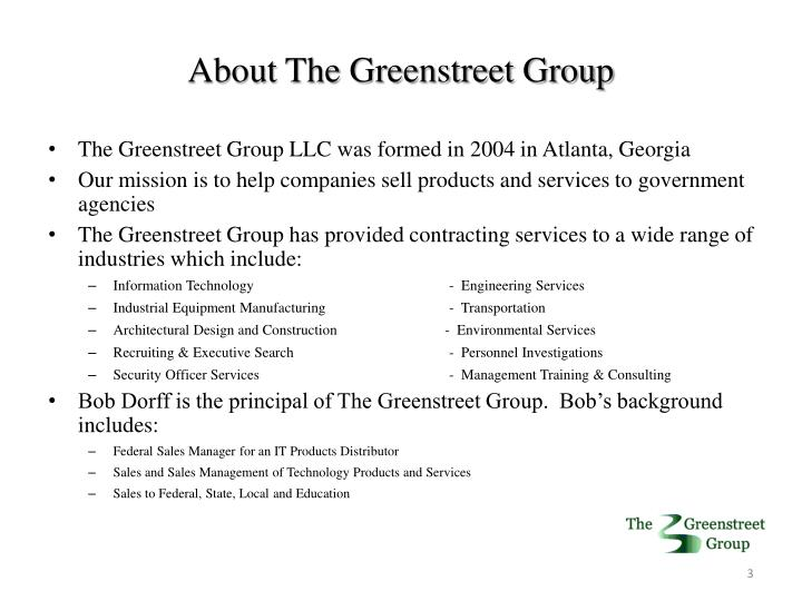 About the greenstreet group