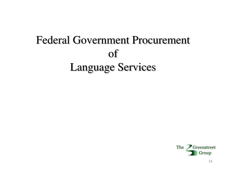 Federal Government Procurement