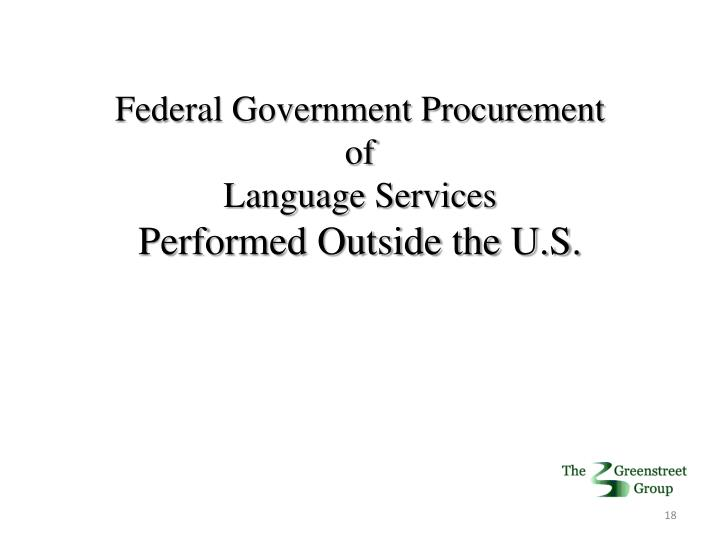 Federal Government Procurement