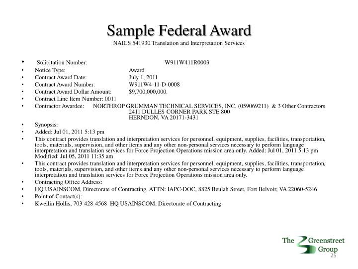Sample Federal