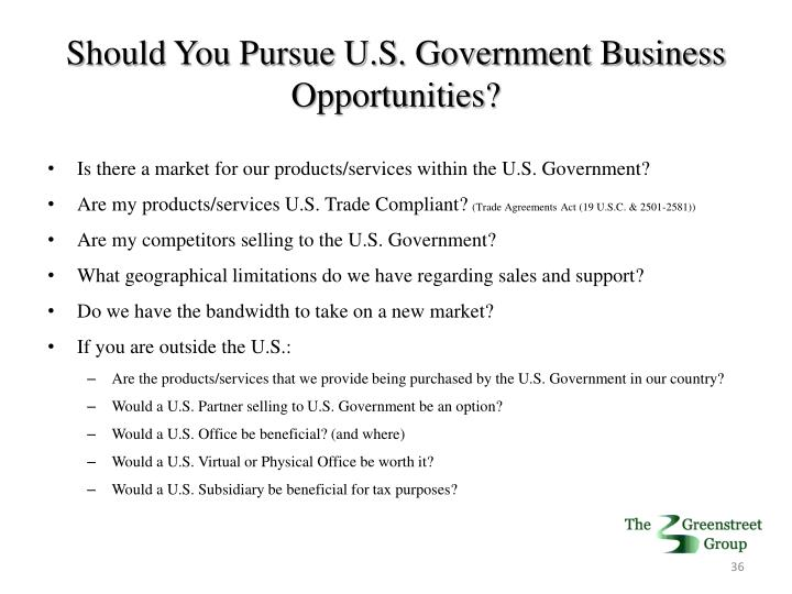 Should You Pursue U.S. Government Business Opportunities?