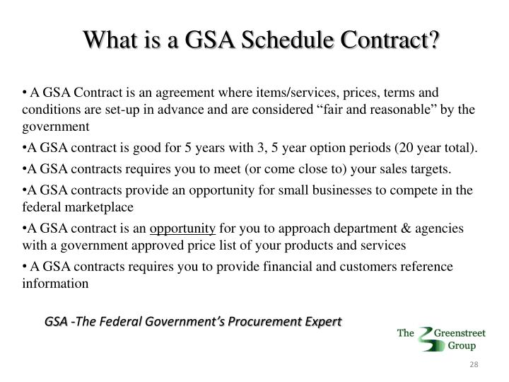 What is a GSA Schedule Contract?