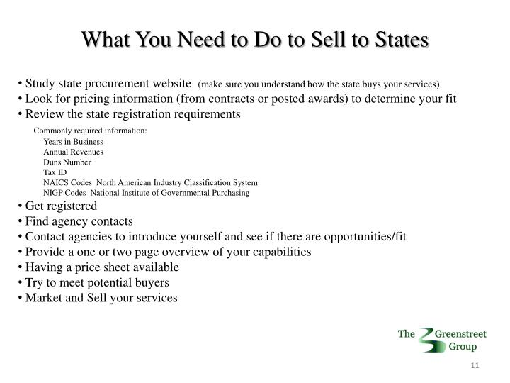What You Need to Do to Sell to States