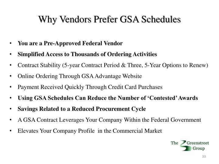 Why Vendors Prefer GSA Schedules