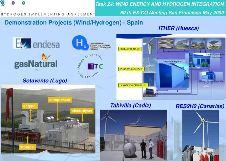 Demonstration Projects (Wind/Hydrogen) - Spain