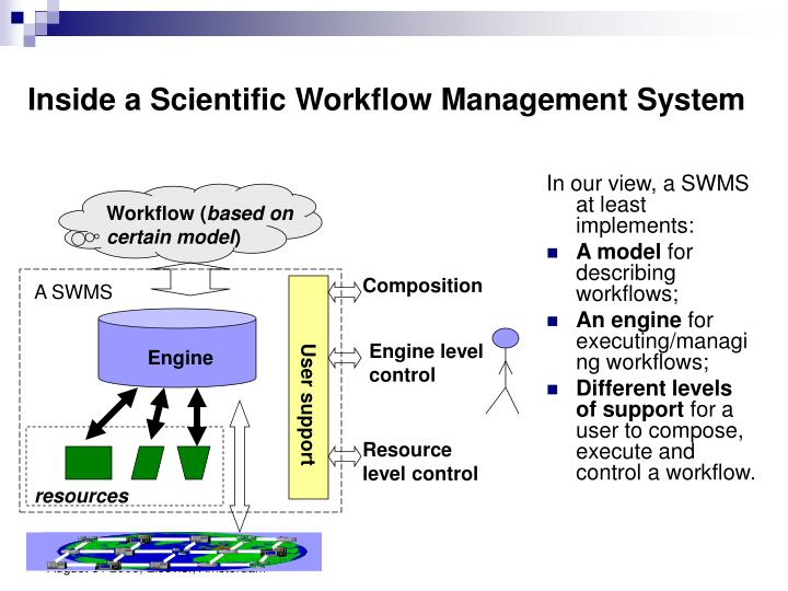 Inside a Scientific Workflow Management System