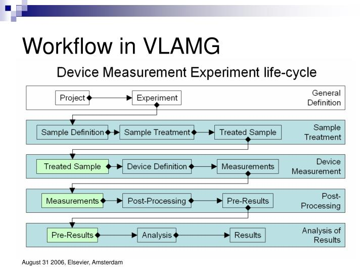 Workflow in VLAMG