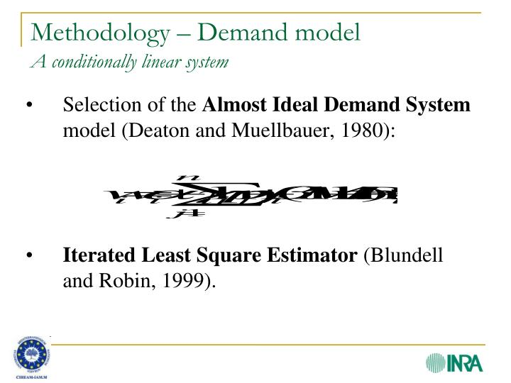 Methodology – Demand model