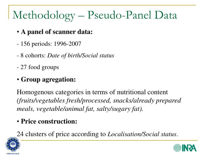Methodology – Pseudo-Panel Data
