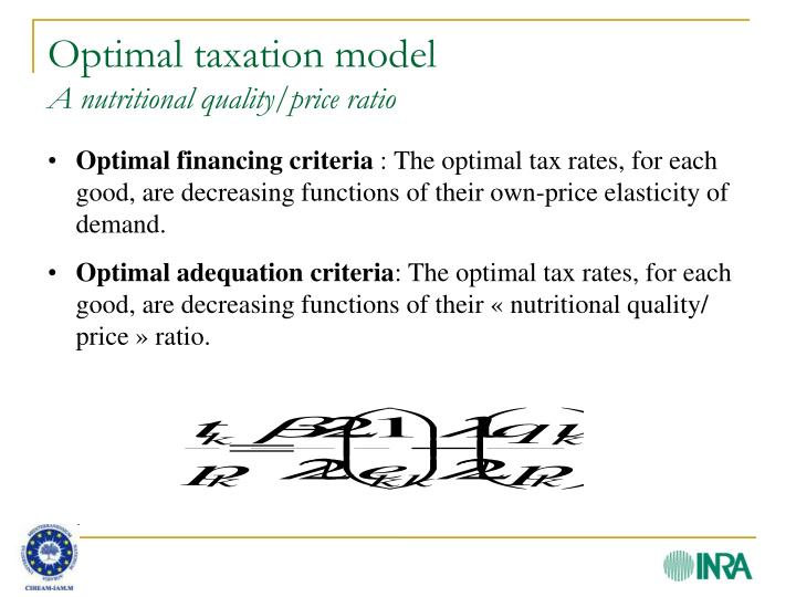 Optimal taxation model