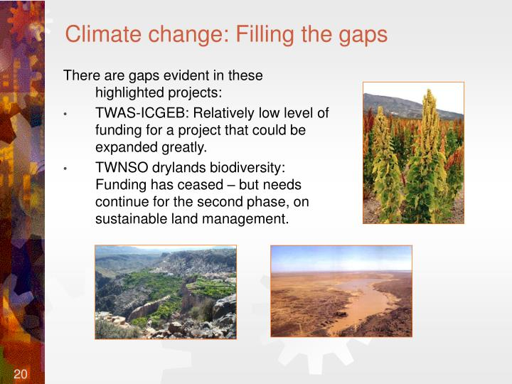 Climate change: Filling the gaps