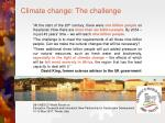 climate change the challenge