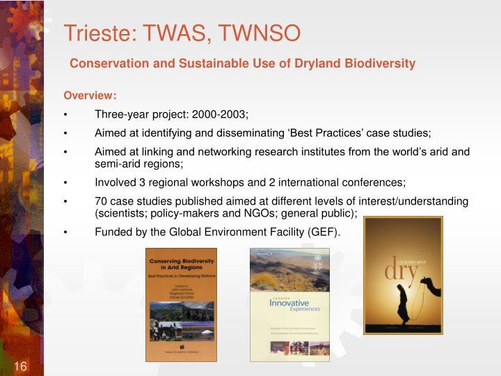 Trieste: TWAS, TWNSO