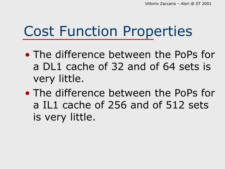 Cost Function Properties