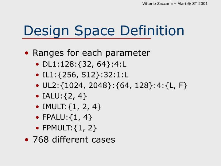 Design Space Definition