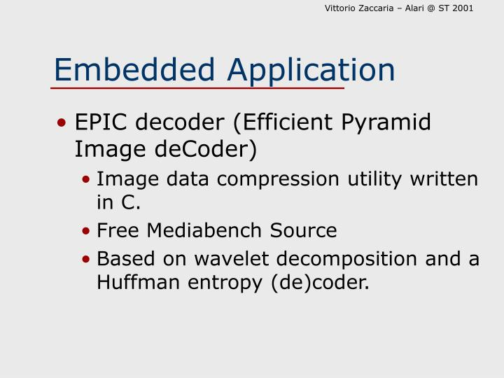 Embedded Application
