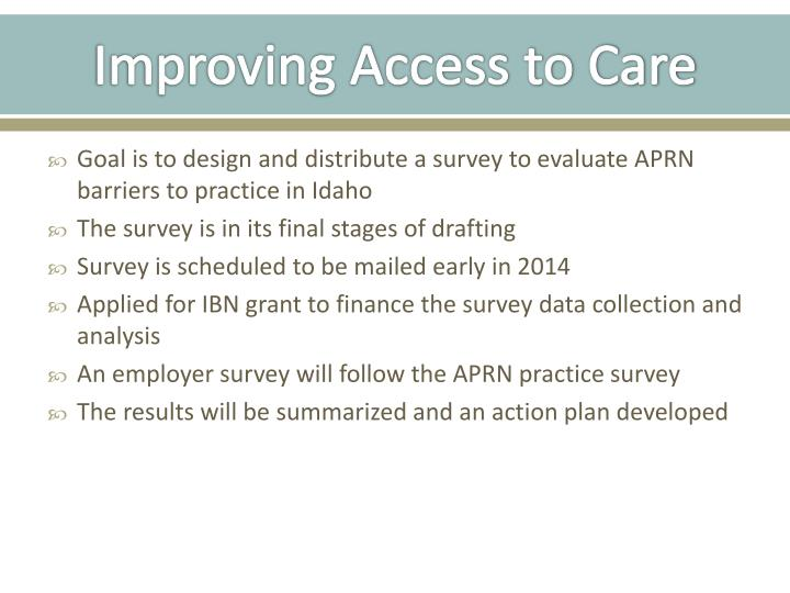 Improving Access to Care