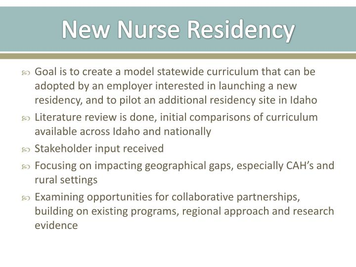 New Nurse Residency