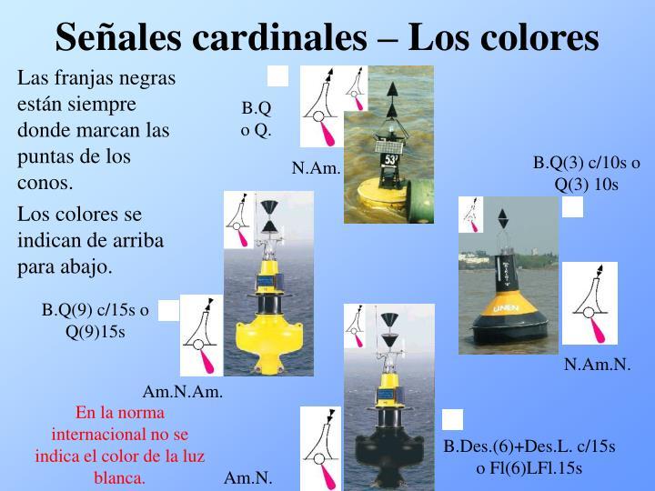 Señales cardinales – Los colores