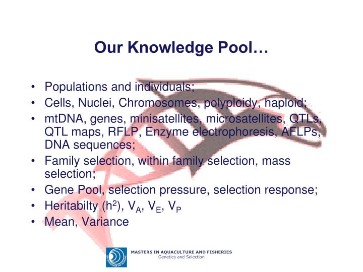 Our Knowledge Pool…