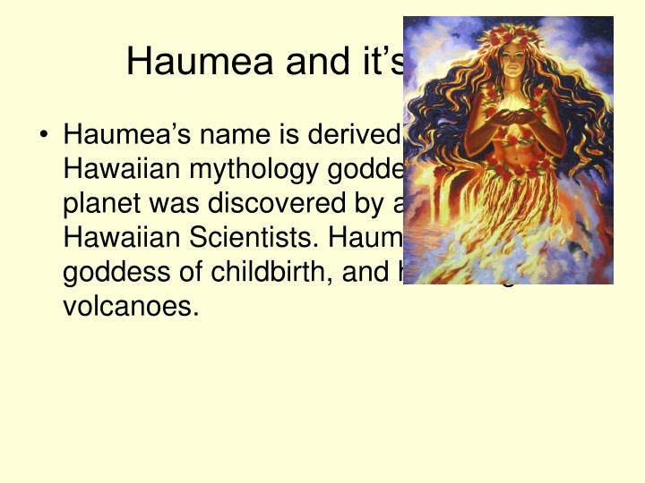 Haumea and it s name