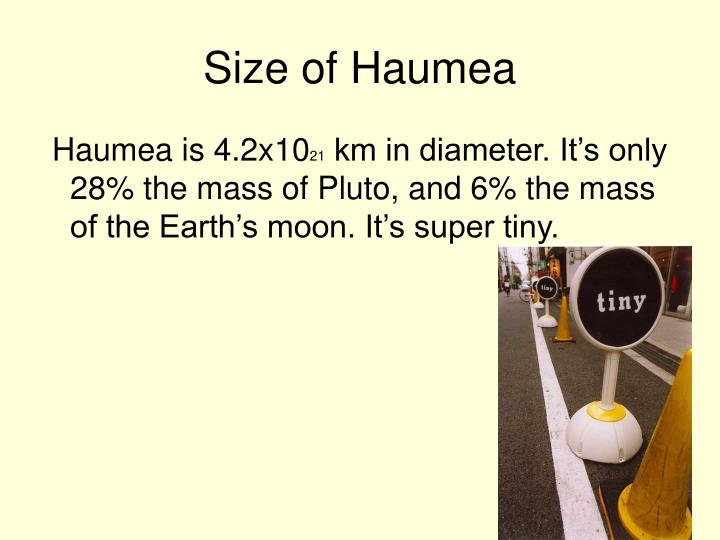 Size of Haumea