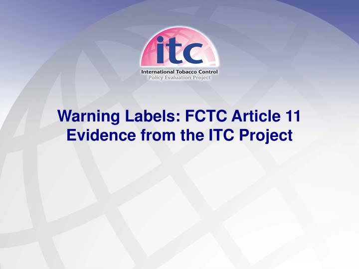 Warning Labels: FCTC Article 11