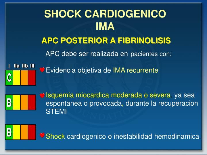 SHOCK CARDIOGENICO