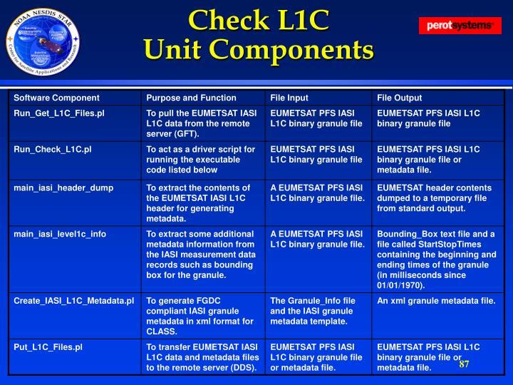 Check L1C