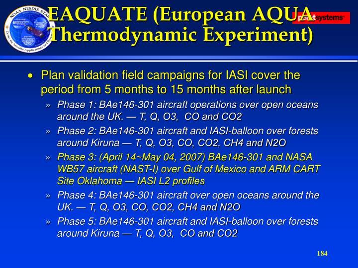 EAQUATE (European AQUA Thermodynamic Experiment)