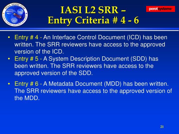 IASI L2 SRR –