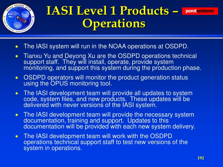 IASI Level 1 Products –