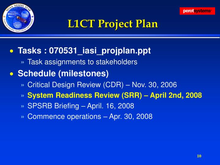 L1CT Project Plan