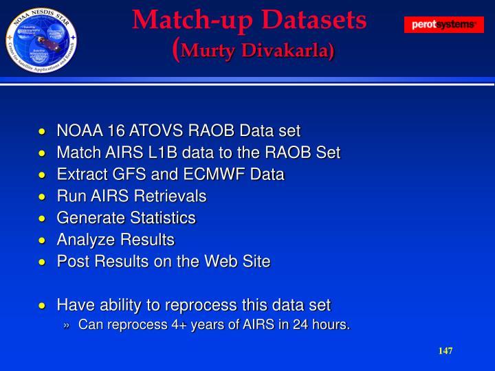 Match-up Datasets