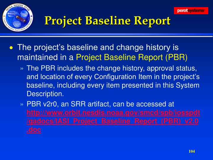 Project Baseline Report