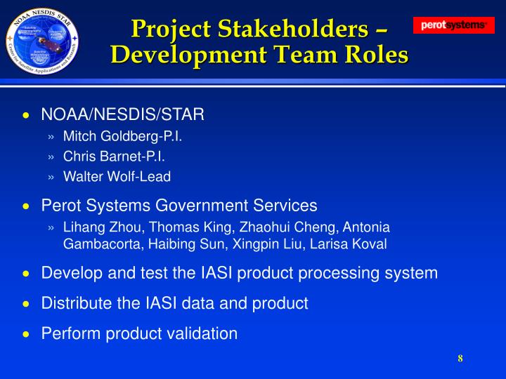 Project Stakeholders – Development Team Roles