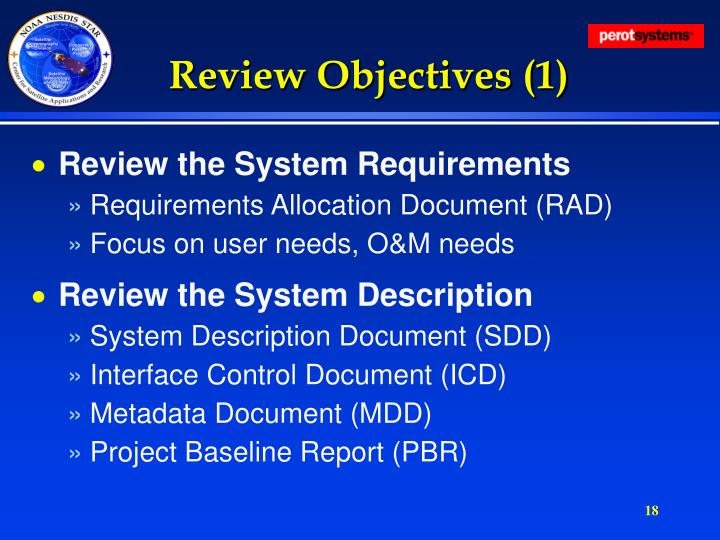 Review Objectives (1)