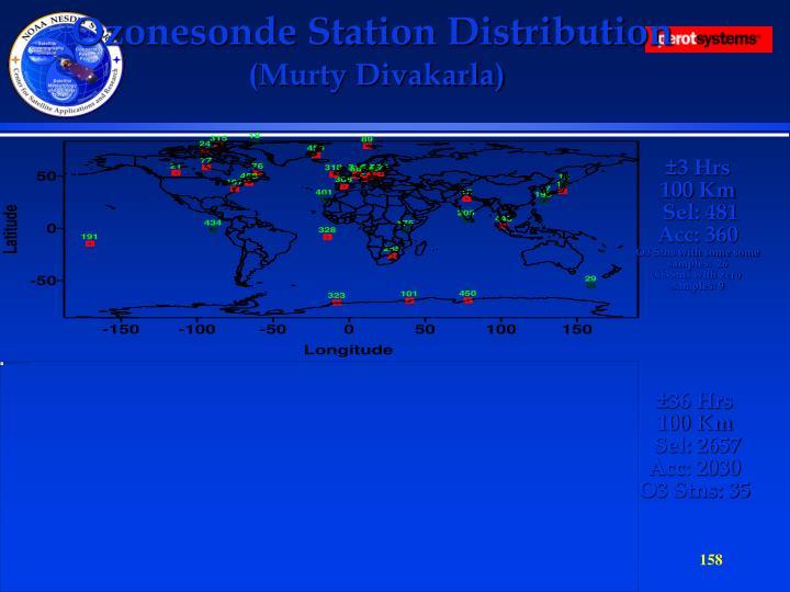Ozonesonde Station Distribution