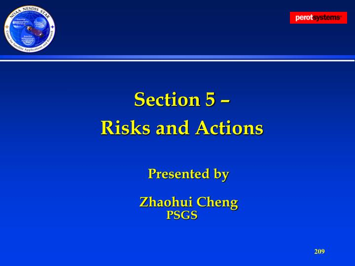 Section 5 –