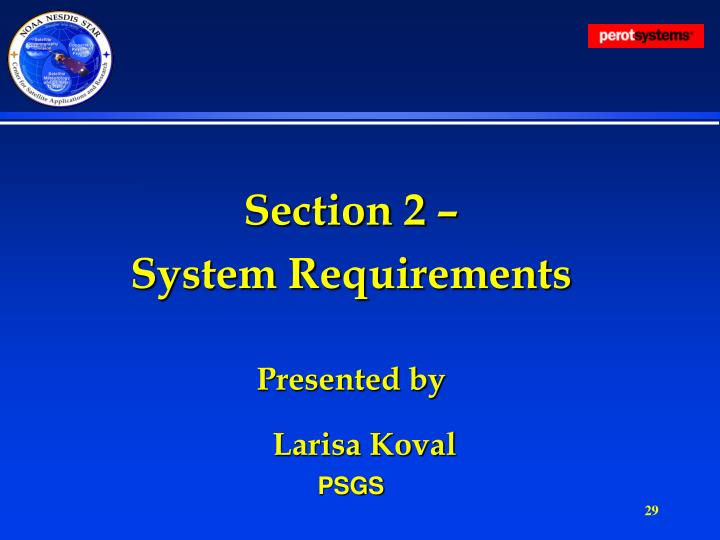 Section 2 –