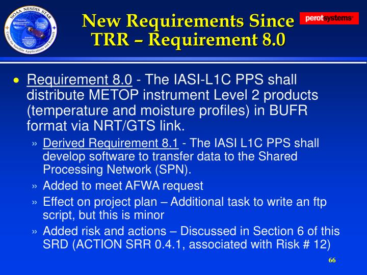 New Requirements Since TRR – Requirement 8.0